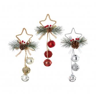Jingle Bells Star Shaped Door Hanger Decoration