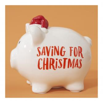 Saving for Christmas Ceramic Piggy Bank