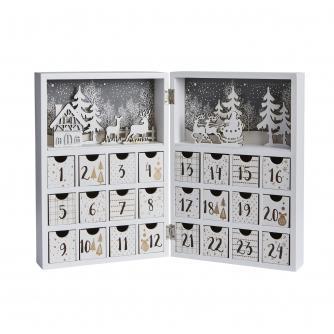 White & Gold Folding Book Style Advent Calendar