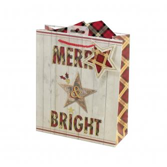 Merry & Bright Heritage Gift Bag - Medium