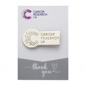 Cancer Research UK Silver Wedding Favour