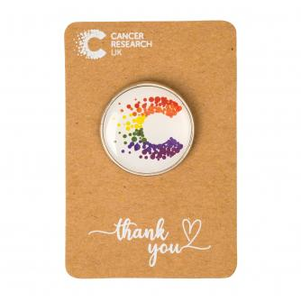 Cancer Research UK Pride Pin Badge