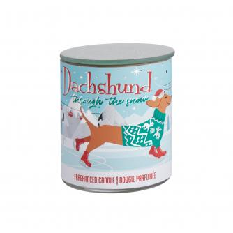 Christmas Dachshund Candle Pot