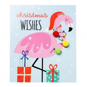 Festive Flamingo Christmas Cards - Pack of 6