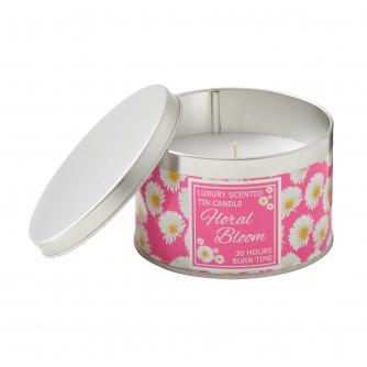 For Kate Pink Gerbera Tin Candle