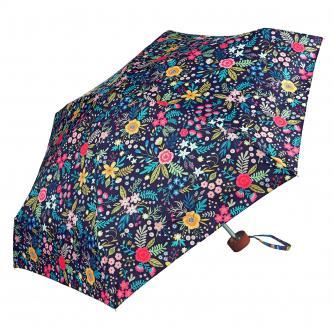 Pink, Yellow and Teal Floral Print Umbrella