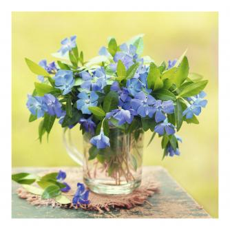 Blue Flowers In Jug Greetings Card