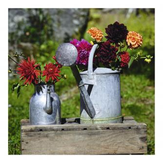Floral Watering Cans Greetings Card