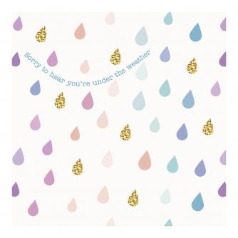 Raindrops Get Well Greetings Card