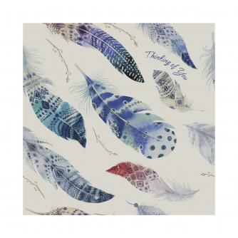 Feathers Thinking Of You Greetings Card
