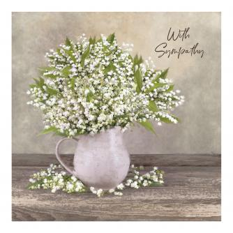 David's Lily Of The Valley Sympathy Card