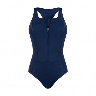 Amoena Key West Pocketed Swimsuit in Dark Navy