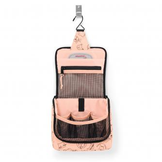 Reisenthel Cats and Dogs Hanging Toiletry Bag in Pink