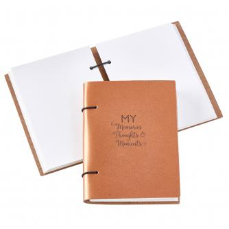 Recycled Leather My Memories, Thoughts and Moments Scrapbook in Copper