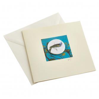 CB Ceramics Song Bird Button Greetings Card