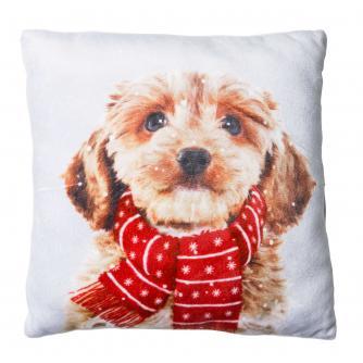 Large Winter Dog Cushion