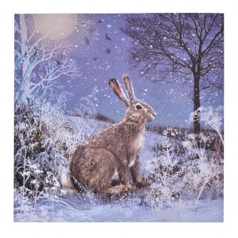Majestic Hare Christmas Cards - Pack of 20