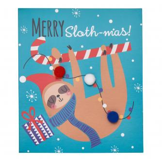 Merry Slothmas Christmas Cards - Pack of 6