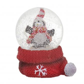 Mini Penguin Water Globe Cancer Research UK Christmas Gift
