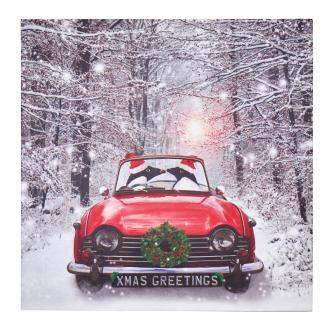 Penguins in Car Christmas Cards - Pack of 20