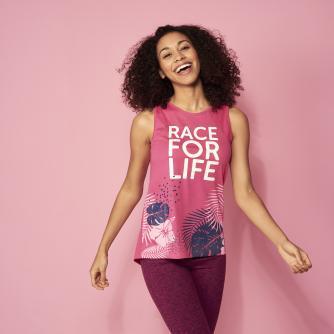 Race for Life 2019 Tropical Detail Loose Fit Vest