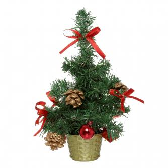 red decorated tree cancer research uk christmas gift