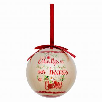 remembrance bauble cancer research uk christmas gift