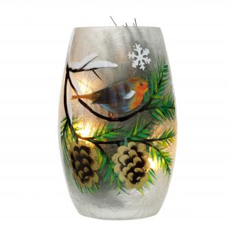 robin vase cancer research uk christmas gift