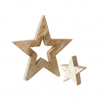 Rustic Wooden Star Decoration