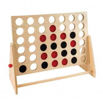 Wooden 4-In-A-Row Game