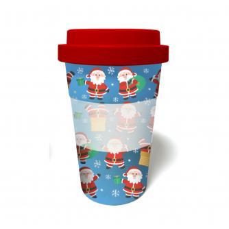 Santa Bamboo Travel Mug