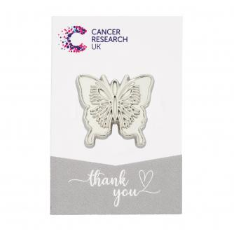 Silver Butterfly Pin Badge