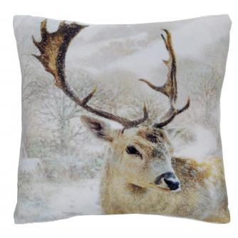 stag small cushion cancer research uk christmas gift