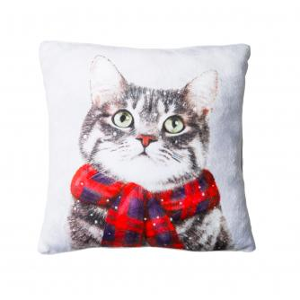 Small Winter Cat Cushion