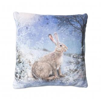 Small Winter Hare Cushion
