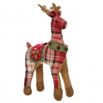 reindeer dark plaid print cancer research uk christmas gift
