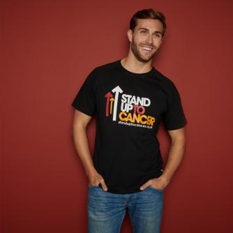 Stand Up To Cancer Men's Full Logo Black T-shirt