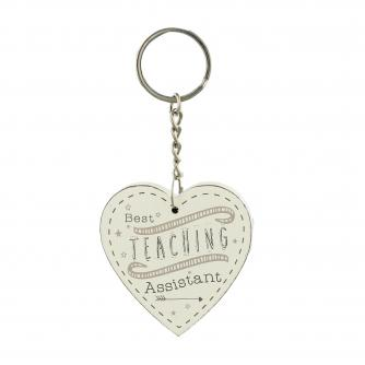 Cancer Research UK Online Shop, Thank You Teacher Gifts, Heart Keyring – Best Teaching Assistant