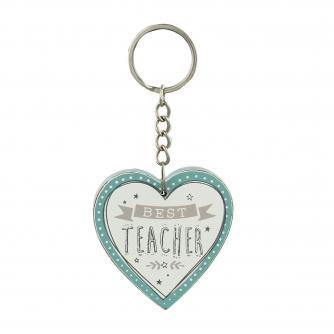 Cancer Research UK Online Shop, Thank You Teacher Gifts, Heart Keyring – Best Teacher