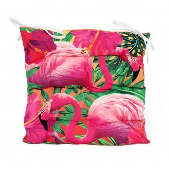 Tropical Flamingo Seat Pad