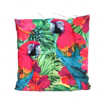 Tropical Parrot Seat Pad