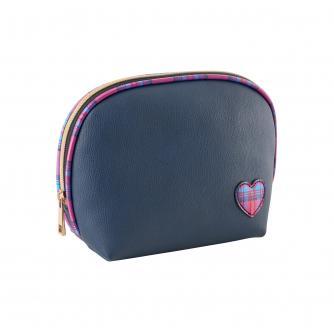 Cancer Research UK Tartan Make Up Bag