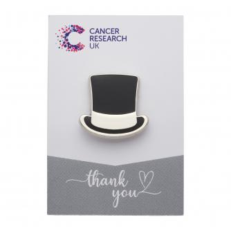 Top Hat Pin Badge Wedding Favour