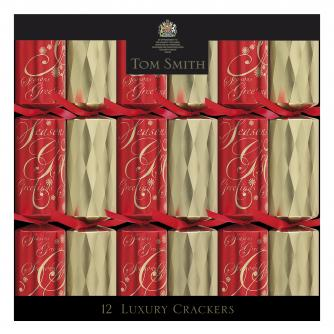 Red and Gold Luxury Crackers cancer research uk crackers
