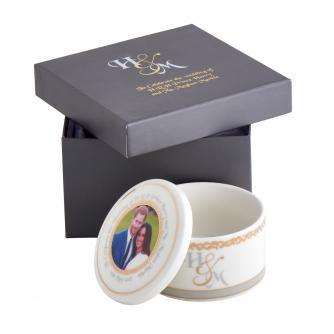 Harry and Meghan Royal Wedding China Trinket Box