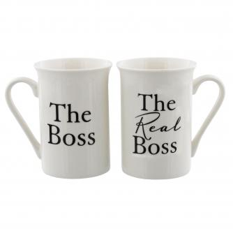 The Boss and The Real Boss Mugs, Wedding Gifts, Cancer Research UK