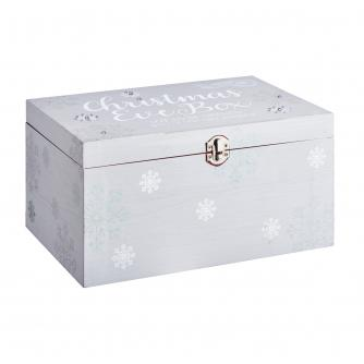 White & Silver Snowflake Christmas Eve Box