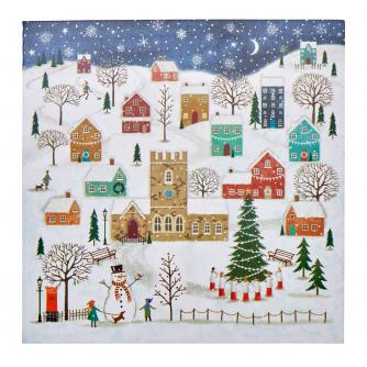 Wintery Village Christmas Cards - Pack of 20