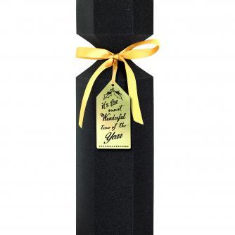 Luxury Bottle Box Black Glitter Cancer Research uk Christmas Box