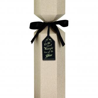Luxury Bottle Box Gold Glitter Cancer Research uk Christmas Box